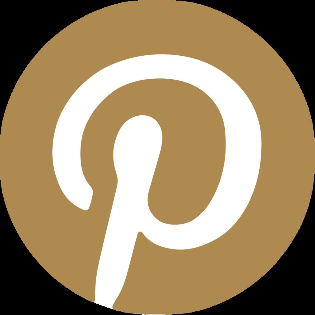 pinterest icon with white